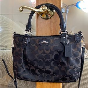 💕Coach black brown small satchel shoulder bag 💕